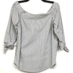Artisan NY Size L Off the Shoulder Striped Top